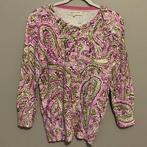 JONES NEW YORK SPORT Floral Cardigan Sweater - L